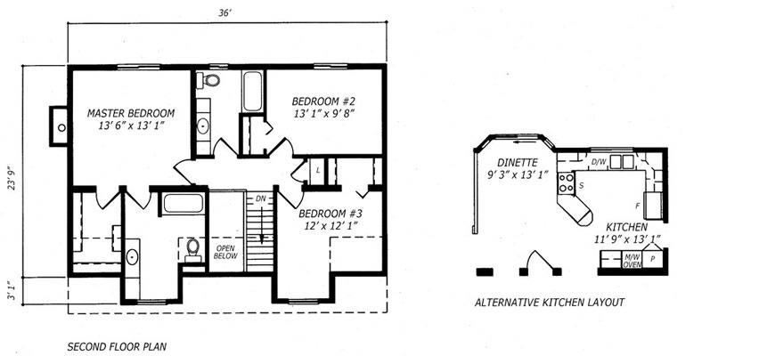 Quantum builders inc home builders in the espanola the for Cape cod second floor plans